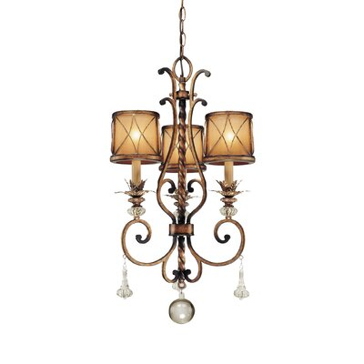Mcmillian 3-Light Shaded Chandelier