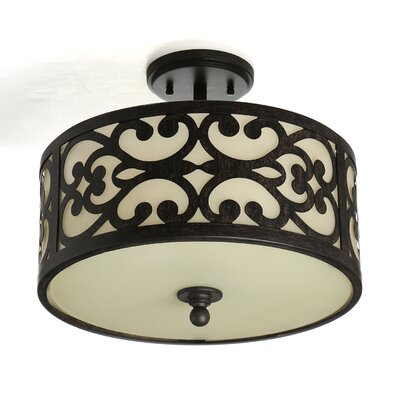 Aegean 3-Light Semi Flush Mount