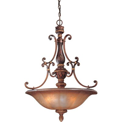 Dee Foyer Pendant with Optional Ceiling Medallion