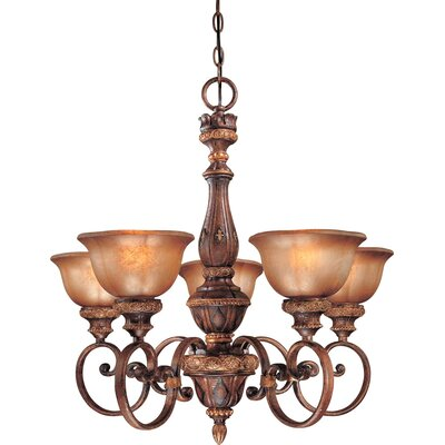 Dee 5-Light Chandelier with Optional Ceiling Medallion
