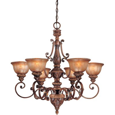 Dee 6-Light Chandelier with Optional Ceiling Medallion