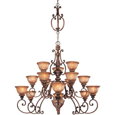 Illuminati 15-Light Shaded Chandelier