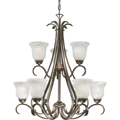 Marche 9-Light Shaded Chandelier