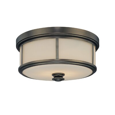 Harvard 2-Light Court Flush Mount