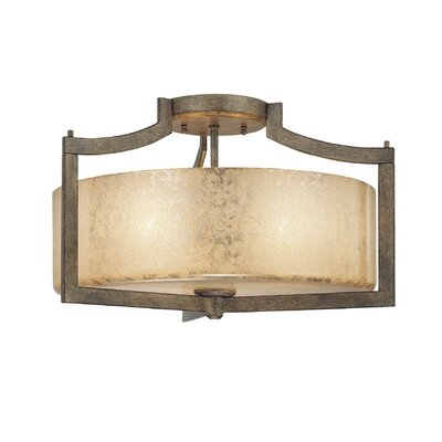Clarte 3-Light Semi Flush Mount