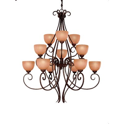 Caspian 12-Light Shaded Chandelier