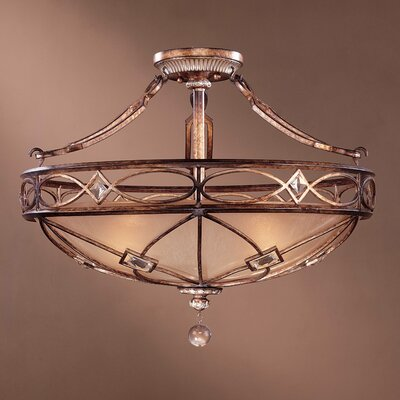 Mcmillian 3-Light Semi Flush Mount