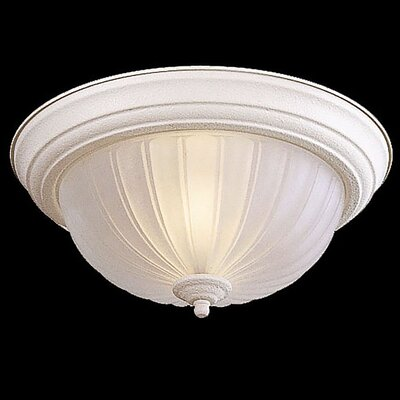 Tyrone 2-Light Flush Mount Finish: White