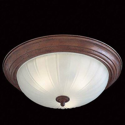 3-Light Flush Mount Finish: Antique Bronze