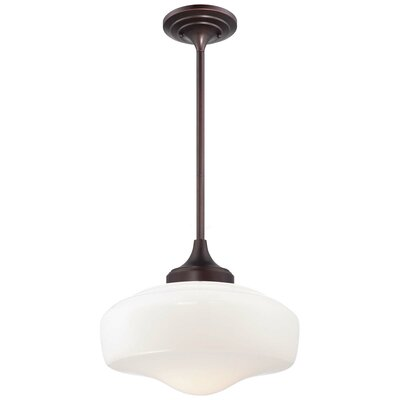 Derouen Contemporary 1-Light Pendant Finish: Brushed Bronze