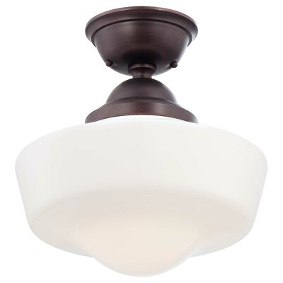 1-Light Semi-Flush Mount Finish: Brushed Bronze