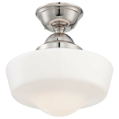 1-Light Semi-Flush Mount Finish: Polished Nickel