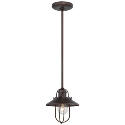 Marlyn 1-Light Pendant Color: Copper Patina Bronze