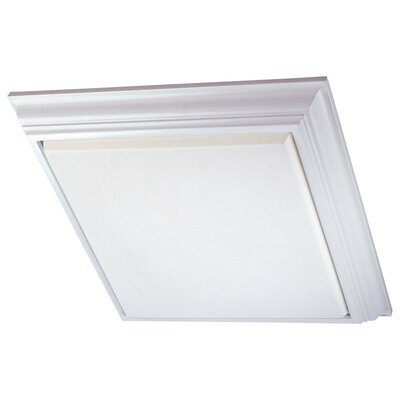 4-Light Square Flush Mount Finish: White Finish