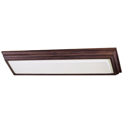 2-Light Kitchen Strip Light Finish: Walnut