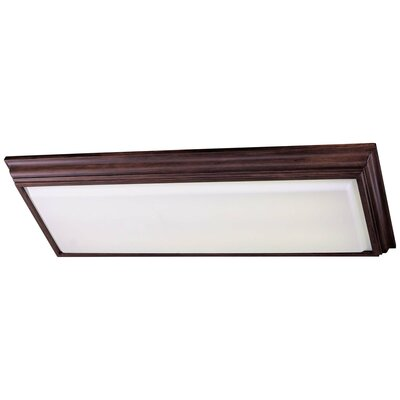 Alvina Rectangle Kitchen Strip Light Finish: Walnut Finish