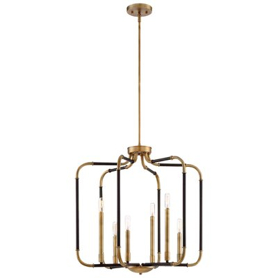 Karst 6-Light Candle-Style Chandelier Finish: Aged Kinston Bronze/Brass