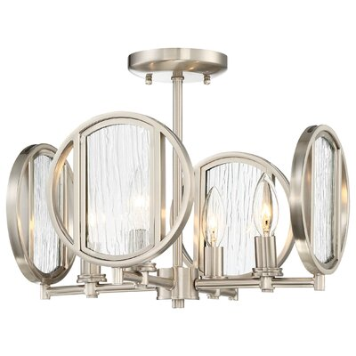 Cayeman 4-Light Semi Flush Mount