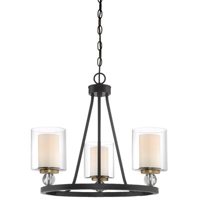 Friedman 3-Light Candle-Style Chandelier