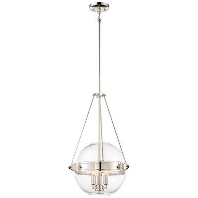 Karle 3-Light Globe Pendant Size: 24 H x 15.5 W x 15.5 D