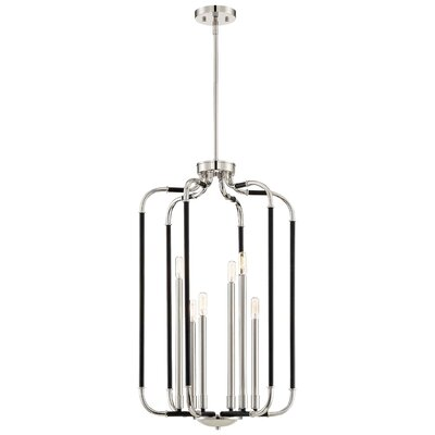 Karst 6-Light Foyer Pendant Finish: Matte Black/Polished Nickel