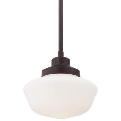 Derouen 1-Light Metal Pendant Finish: Brushed Bronze