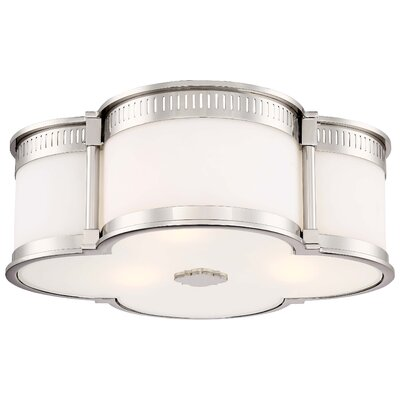 Makayla 3-Light Flush Mount Finish: Polished Nickel