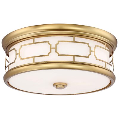 Malina 3-Light Flush Mount Finish: Liberty Gold