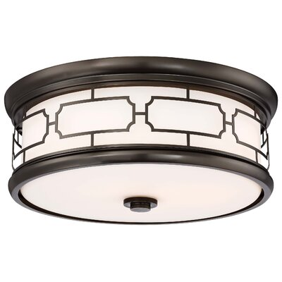 Malina 3-Light Flush Mount Finish: Harvard Court Bronze