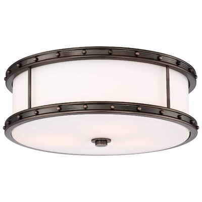 Margaux 3-Light Flush Mount Finish: Harvard Court Bronze