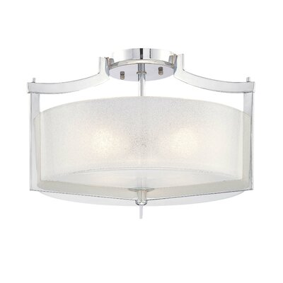 Clarte 3-Light Semi-Flush Mount
