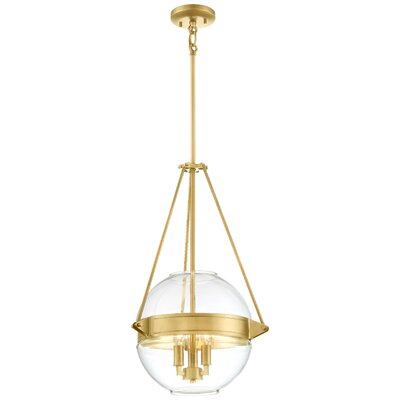 Karle 3-Light Globe Pendant Finish: Gold, Size: 24 H x 15.5 W x 15.5 D