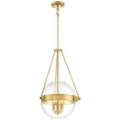 Karle 3-Light Globe Pendant Finish: Gold, Size: 24 H x 15.5 W x 15.5 D