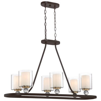 Conard 6-Light Candle Style Chandelier Finish: Bronze