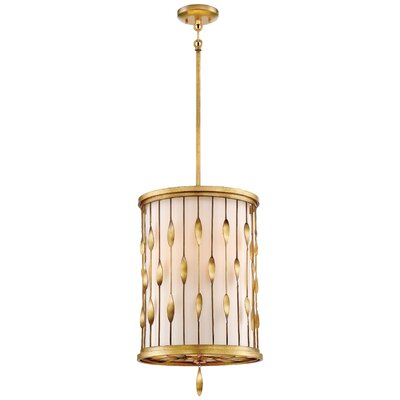 Izabella 3-Light Drum Pendant Size: 22 H x 14 W x 14 D