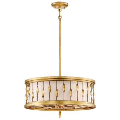 Izabella 3-Light Drum Pendant Size: 10.5 H x 20 W x 20 D