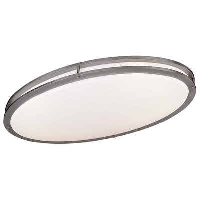 2-Light Oval Flush Mount Size: 4.75 H x 18 W x 32.25 D