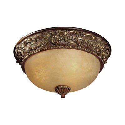 Belcaro Light Flush Mount Size: 7.25 H x 15.25 Diameter
