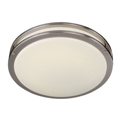 1-Light Round Flush Mount Size: 5 H x 23.75 D