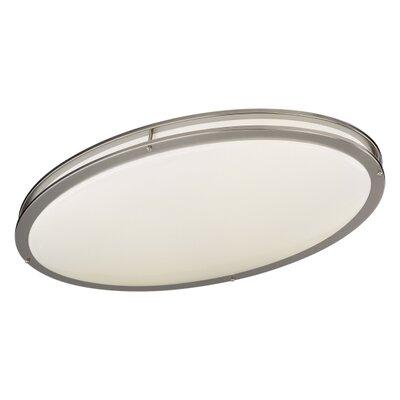 2-Light Oval Flush Mount Size: 4.5 H x 14 W x 28.75 D