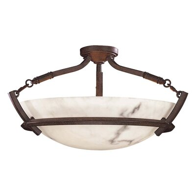 Calavera 3-Light Semi Flush Mount