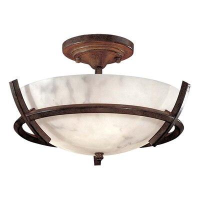 Calavera 3-Light Enclosed Semi Flush Mount