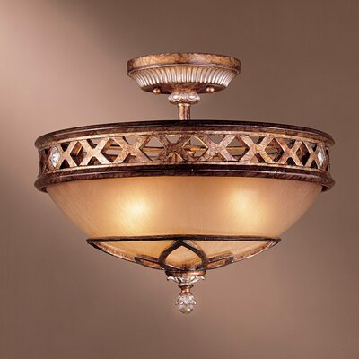 Mcmillian 3-Light Bowl Shade Semi Flush Mount