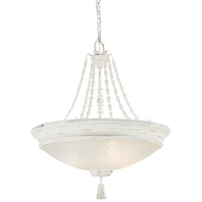 Accents Provence 4-Light Bowl Pendant Finish: Provencal Blanc