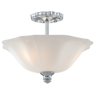 Felice Bath 3-Light Semi-Flush Mount Finish: Chrome