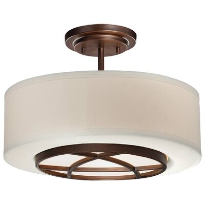 Giroflier 3-Light Semi-Flush Mount