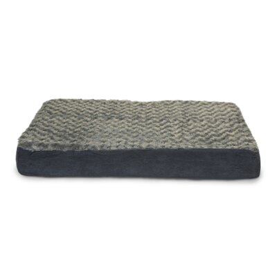 Deluxe Ultra Plush Cooling Gel Foam Pet Bed Color: Gray, Size: Medium