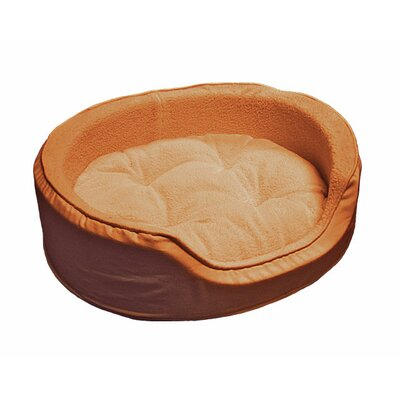 Snuggle Terry & Suede Pet Bed Size: Medium (23 L x 18 W), Color: Camel