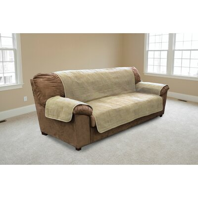 Suede Sofa Slipcover Color: Clay