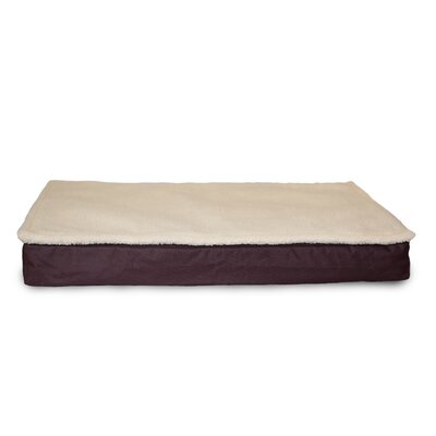 Deluxe Outdoor Memory Foam Dog Bed with Removable Cover Size: Jumbo (44 L x 35 W), Color: Espresso